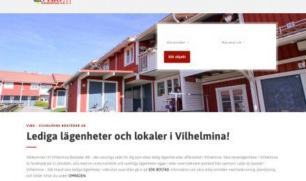 Utsnitt från nya webbsidan